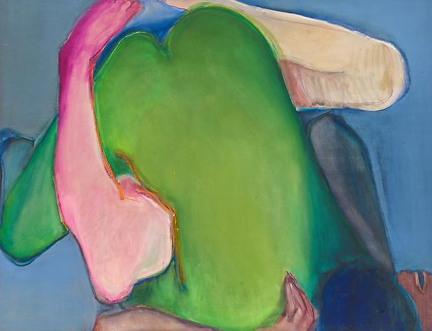 Joan Semmel Green Heart (1971) Oil on canvas; 58h x 48w in (147.32h x 121.92w cm)