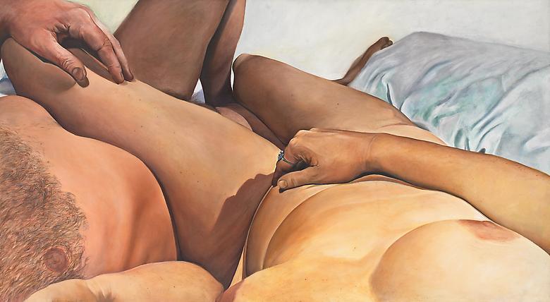 Joan Semmel Touch, 1975 Oil on canvas; 54h x 106w in