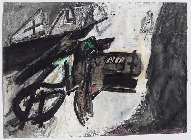 Untitled (abstract study) (c. 1966) Mixed media on paper 22.38h x 30.13w in (56.8h x 76.5w cm)