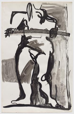 Untitled (figure study) (c. 1971) Mixed media on paper 35h x 22.5w in (88.9h x 57.2w cm)