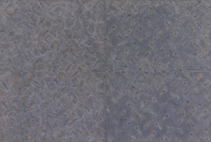 Park Seo-bo Ecriture No. 881106 (1988) Mixed media on hanji paper; 51.2h x 76.4w in (130h x 194.1w cm)