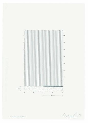 Park Seo-bo Ecriture No. 971220 (1997) Litho crayon, pencil, and correction fluid pen; 19.8h x 14w in (50.3h x 35.6w cm)
