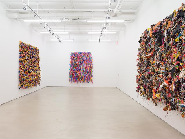 Hassan Sharif, installation view, Alexander Gray Associates (2016)