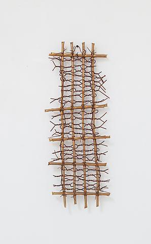Hassan Sharif; Copper 4 (2012) Copper 27.8h x 10.4w x 3.2d in (70.6h x 26.4w x 8.1d cm)
