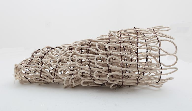 Hassan Sharif  Cotton Rope No 8 (2012) Cotton rope and copper wire; 51.2h x 27.6w x 27.6d in (130h x 70.1w x 70.1d cm)