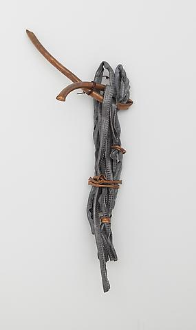 Hassan Sharif Dance - No. 3 (2014) Lead, copper tube, and wire; 34.3h x 15.4w x 11d in (87.1h x 39.1w x 27.9d cm)