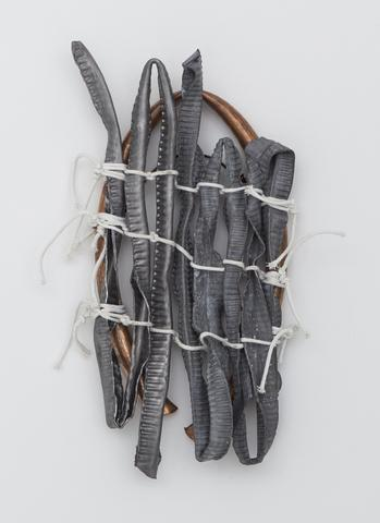 Hassan Sharif, <i>Lead No. 4</i> (2014) Mixed Media 17.3h x 8.3w x 3.1d in (43.9h x 21.1w x 7.9d cm)