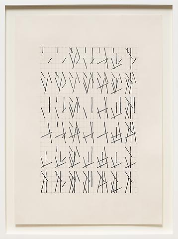 Hassan Sharif; Lines No 5 (2012) Graphite on paper 23.39h x 16.54w in (59.41h x 42.01w cm)