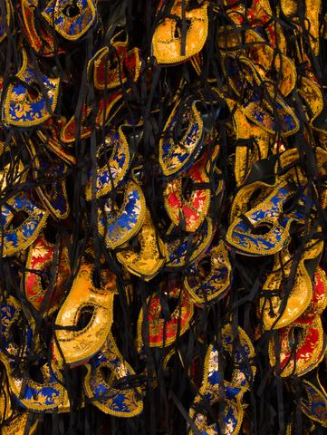 Masks (2016), detail Mixed media  112.2h x 94.49w x 17.32d in (285h x 240w x 44d cm)