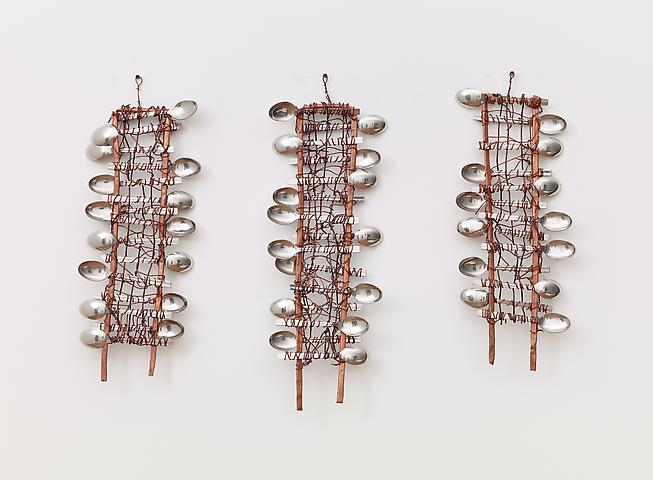 Spoons No. 3 (2012) Spoons and copper 27.6h x 31.9w in (70.1h x 81w cm)