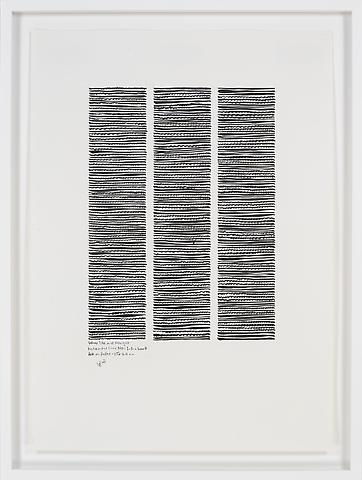 Wave-like and Straight Horizontal No. 1-2 (2007) Ink on paper 23.03h x 16.54w in (58.5h x 42.01w cm)