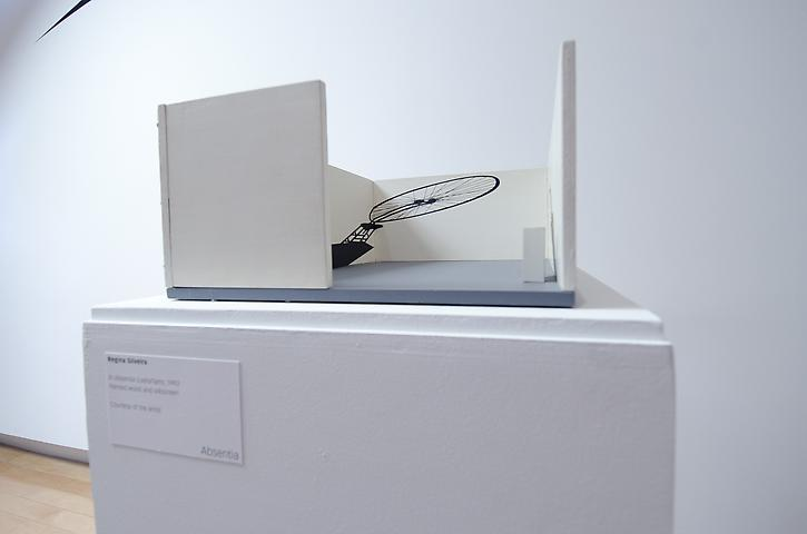 Regina Silveira; In Absentia (LedisFlam) (1993); Painted wood and silkscreen 14.56h x 20w x 2.19d in (36.98h x 50.8w x 5.56d cm); The Aldrich Contemporary Art Museum (2012)