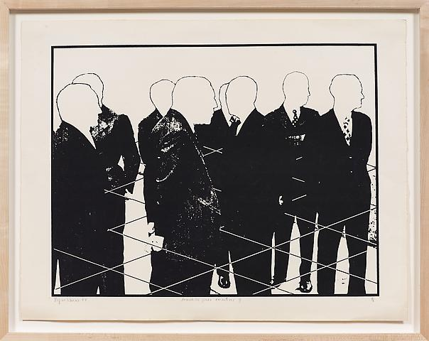 Armadilha para executivo (1974) Silkscreen  21.85h x 27.76w in (55.5h x 70.51w cm); Edition of 6