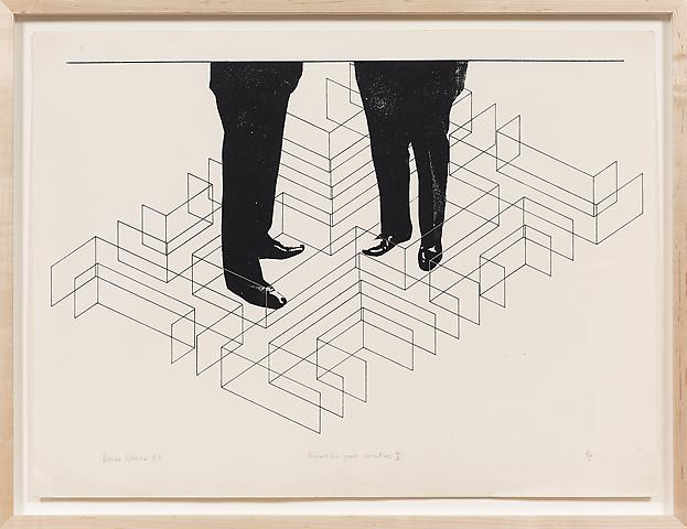 Armadilha para executivos I (1974) Silkscreen  21.85h x 27.76w in (55.5h x 70.51w cm); Edition of 5