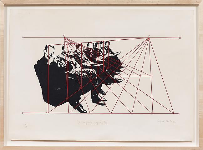 De artificiale perspectiva 3 (1976) Silkscreen  19.69h x 27.56w in (50.01h x 70w cm); Edition of 10
