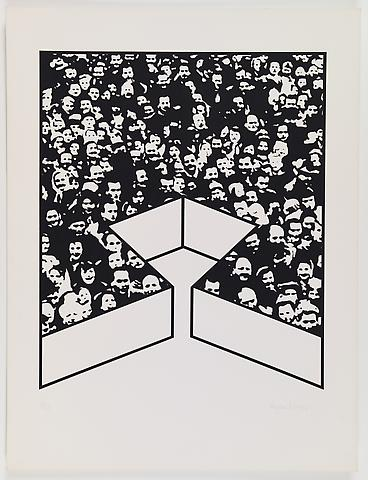Middle Class & Co. (1971) Silkscreens on paper in 15 parts with front and back cover (part 11/15) 25h x 19w in (63.5h x 48.26w cm); Edition of 25