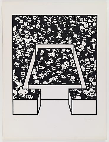 Middle Class & Co. (1971) Silkscreens on paper in 15 parts with front and back cover (part 15/15) 25h x 19w in (63.5h x 48.26w cm); Edition of 25