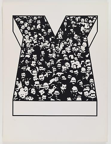 Middle Class & Co. (1971) Silkscreens on paper in 15 parts with front and back cover (part 13/15) 25h x 19w in (63.5h x 48.26w cm); Edition of 25