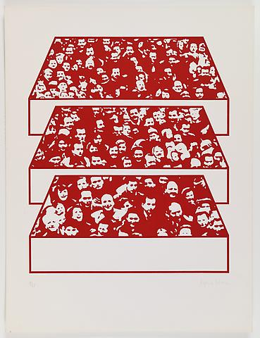 Middle Class & Co. (1971) Silkscreens on paper in 15 parts with front and back cover (part 10/15) 25h x 19w in (63.5h x 48.26w cm); Edition of 25