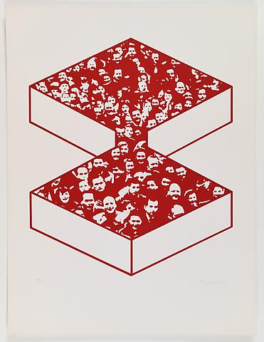 Middle Class & Co. (1971) Silkscreens on paper in 15 parts with front and back cover (part 12/15) 25h x 19w in (63.5h x 48.26w cm); Edition of 25