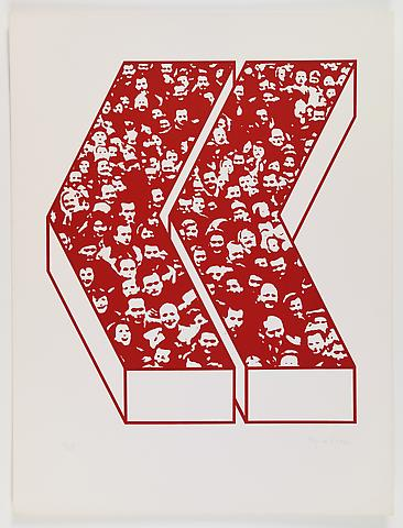 Middle Class & Co. (1971) Silkscreens on paper in 15 parts with front and back cover (part 14/15) 25h x 19w in (63.5h x 48.26w cm); Edition of 25