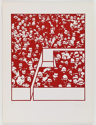 Middle Class & Co. (1971) Silkscreens on paper in 15 parts with front and back cover (part 6/15) 25h x 19w in (63.5h x 48.26w cm); Edition of 25
