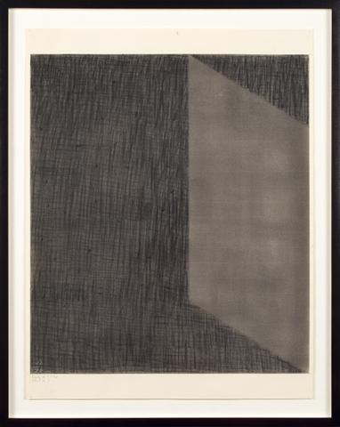 Jack Tworkov DWG #5-70 (CH #5), 1970 Charcoal on paper, 25.5h x 19.75w in (64.77h x 50.17w cm)