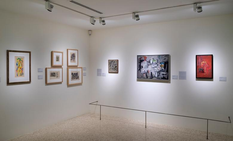 <i>Homage to Jack Tworkov</i>, installation view, Peggy Guggenheim Collection (2016)