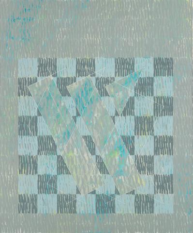 Knight Series #2 (Q3-75 #3) (1975) Oil on canvas 90h x 75w in (228.60h x 190.50w cm)