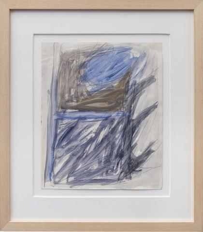 Untitled (Barrier Study) (c. 1964) Gouache and pencil on paper 17h x 14w in (43.2h x 35.6w cm)