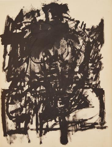 Untitled (Seated Figure) (c. 1954) Ink on paper 23h x 18w in (58.4h x 45.7w cm)