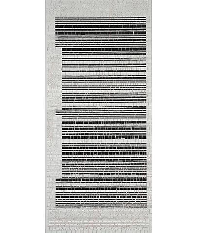 Jack Whitten Bar Code #I (Rutilation: For Mary) (2007) Acrylic collage on canvas; 80h x 36w in (203.2h x 91.44w cm)