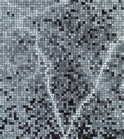 Jack Whitten, Bessemer Dreamer II, 1992 Acrylic on Canvas 58 x 52 in (147.32h x 132.08w cm)