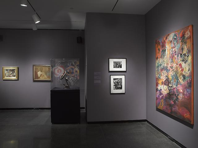Jack Whitten Brooklyn Museum (2014); installation view Brooklyn Museum photograph