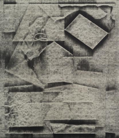 Jack Whitten Future Beta Series I (1977) Collage and acrylic slip on paper; 15.6h x 13.4w in (39.6h x 34w cm)