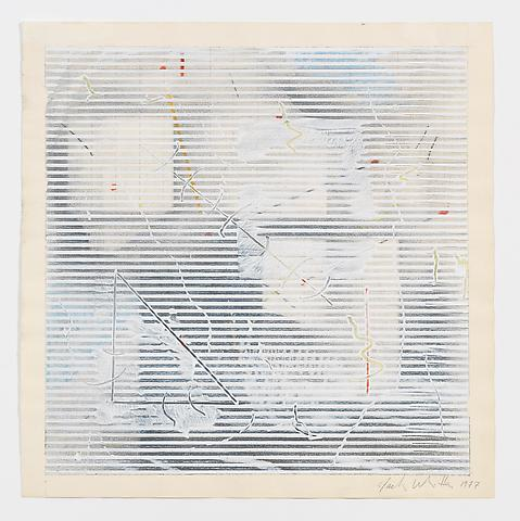 In + Out (1977) Acrylic, colored pencil and graphite on paper 10h x 10w in (25.4h x 25.4w cm)