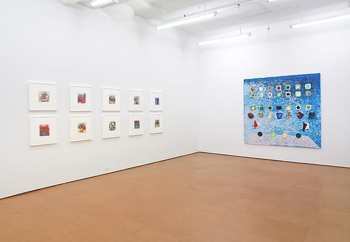 Jack Whitten  Installation view, Alexander Gray Associates (2011)