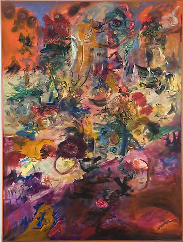 King's Wish (Martin Luther's Dream) (1968) Oil On Canvas 67.9h x 51.8w in (172.5h x 131.6w cm)