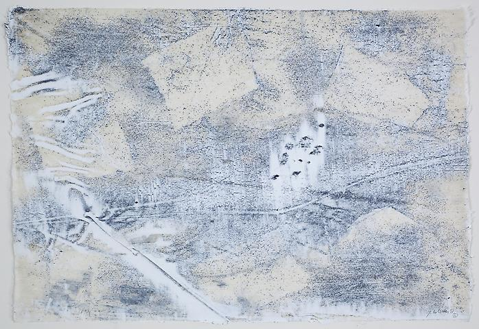 Nemesis 6 (2011) Graphite and acrylic on rice paper 17h x 24.5w in (43.18h x 62.23w cm)