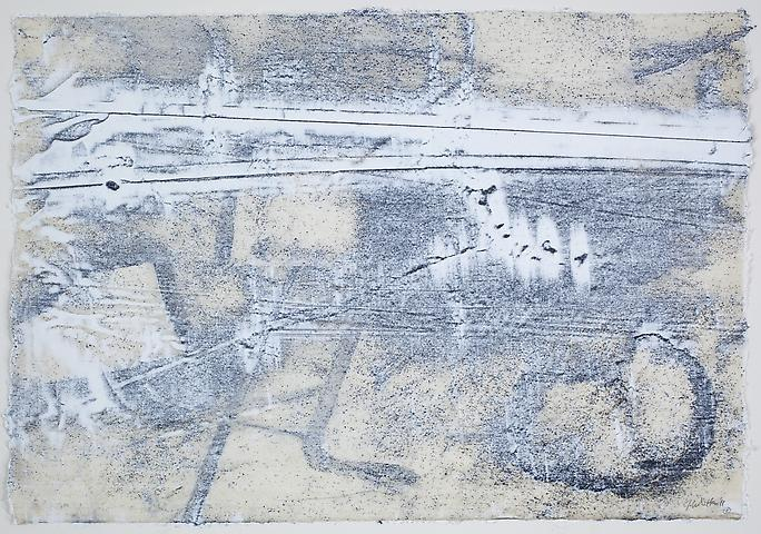 Nemesis 8 (2011) Graphite and acrylic on rice paper 17h x 24.5w in (43.18h x 62.23w cm)