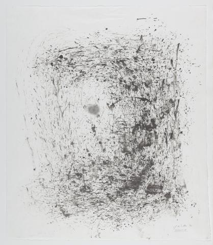 Jack Whitten, Presence II, 1994 Sumi ink on rice paper 22.25 x 19.25 in (56.52h x 48.9w cm)