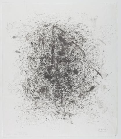 Jack Whitten, Presence I, 1994 Sumi ink on rice paper 22.25 x 19.25 in (56.52h x 48.9w cm)
