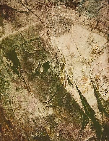 Jack Whitten; Pressed Space 24 (1971) Oil on paper 13h x 10w in (33.02h x 25.4w cm)