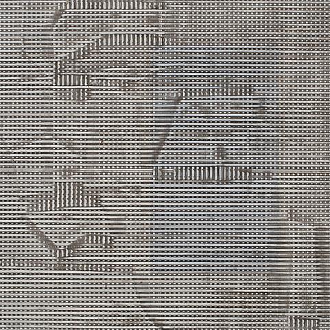 Jack Whitten STA Alpha I (1978) Acrylic on canvas; 16h x 16w in (40.6h x 40.6w cm)