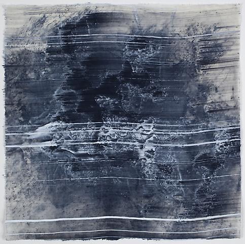 Site 3 (2011) Graphite and acrylic on rice paper 16.5h x 17w in (41.91h x 43.18w cm)
