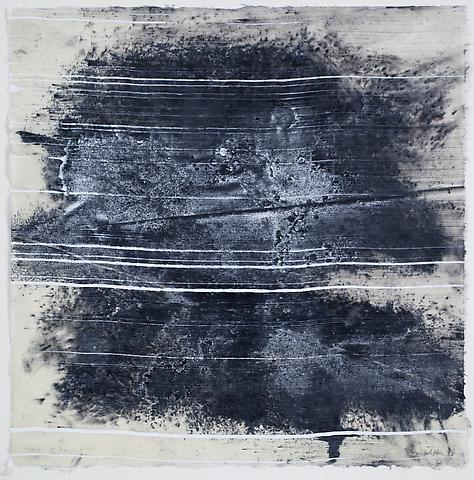 Site 4 (2011) Graphite and acrylic on rice paper 16.75h x 16.75w in (42.55h x 42.55w cm)
