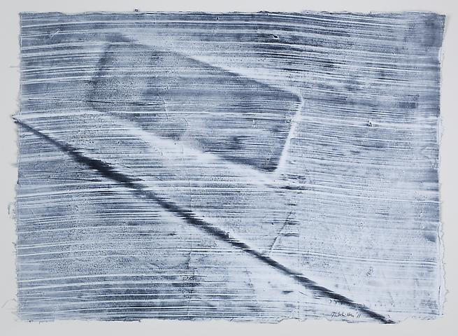 Site 6 (2011) Graphite and acrylic on rice paper 12.25h x 17w in (31.12h x 43.18w cm)