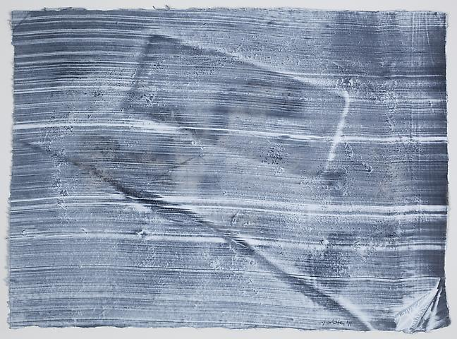Site 7 (2011) Graphite and acrylic on rice paper 12.25h x 17w in (31.12h x 43.18w cm)