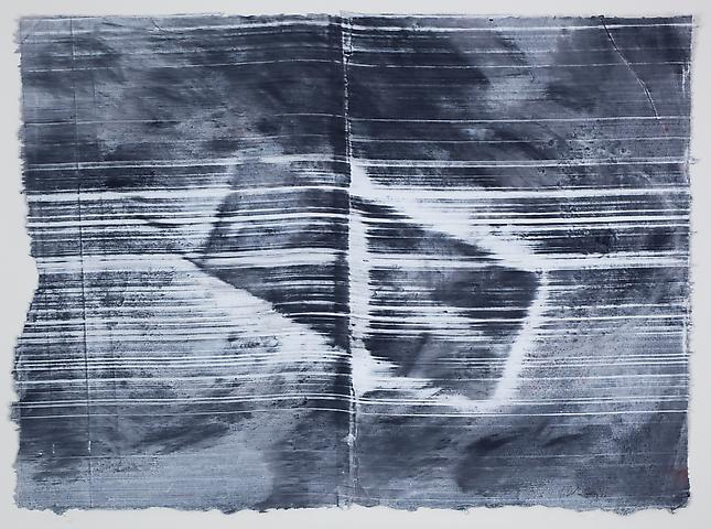 Site 8 (2011) Graphite and acrylic on rice paper 12.25h x 17w in (31.12h x 43.18w cm)