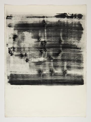 Jack Whitten Study for Omalos #4 (1974) Toner on Paper; 25.8h x 19w in (65.5h x 48.3w cm)